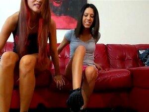 Alexis y Amber s sucio humillante calcetín
